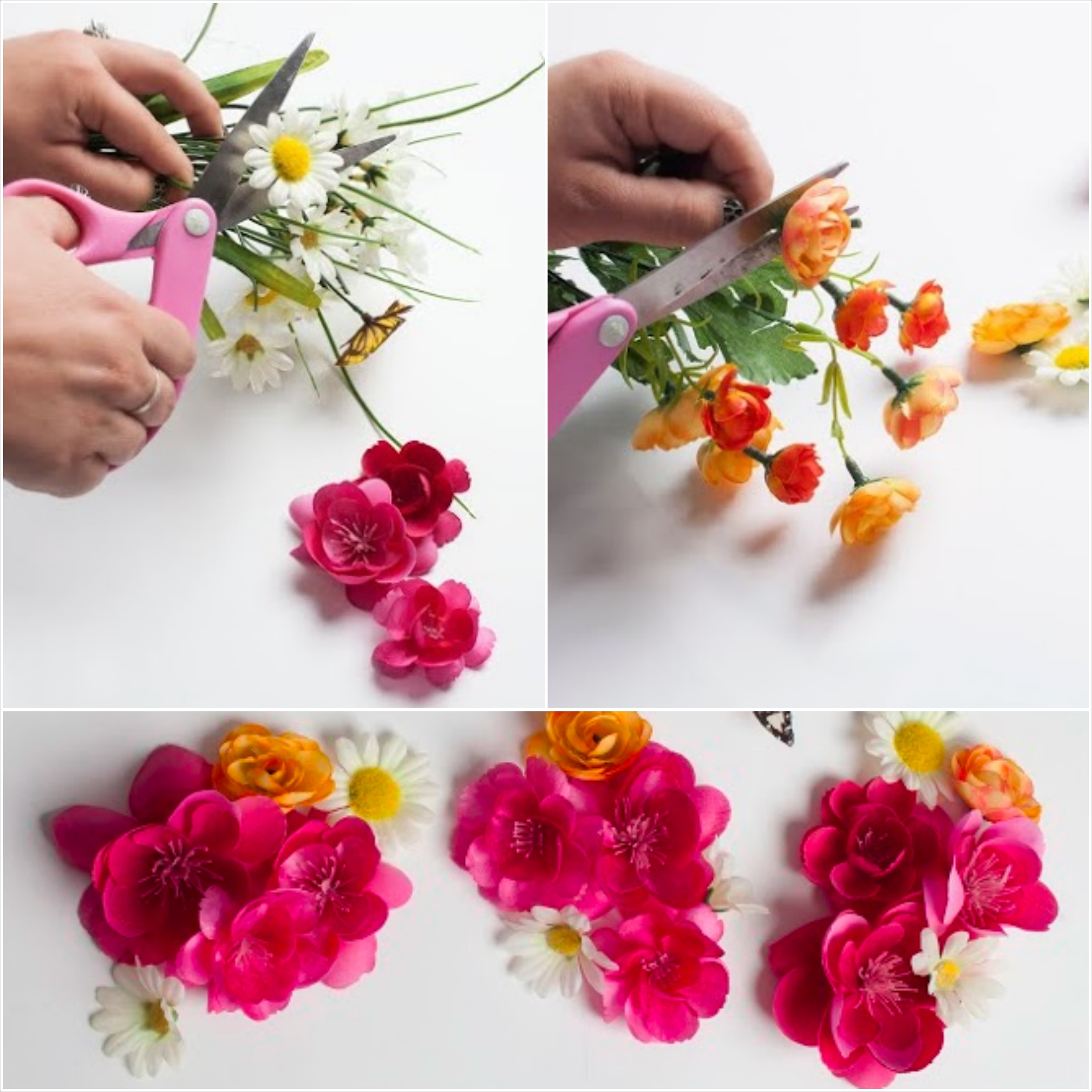 Diy floral crowns depending on the size and color scheme youd like your flower crown to be select different varieties of flowers that create a unique blend izmirmasajfo Images